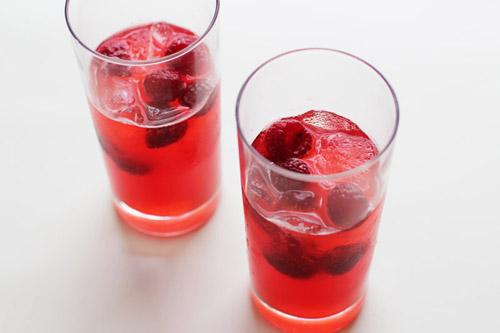 raspberry rhubarb sangria from @janemaynard
