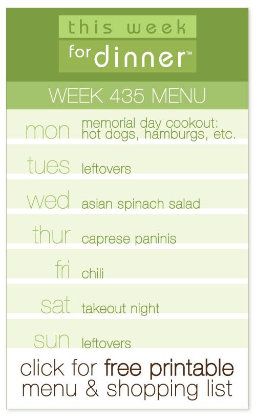 week 435 weekly menu from @janemaynard including FREE printable meal plan and shopping list!