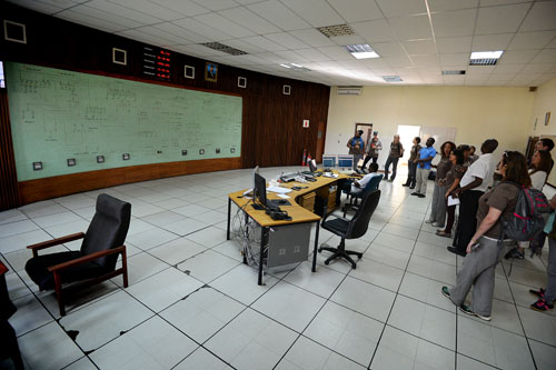snapshots from malawi: electricity in malawi, ESCOM control center | photo by karen walrond