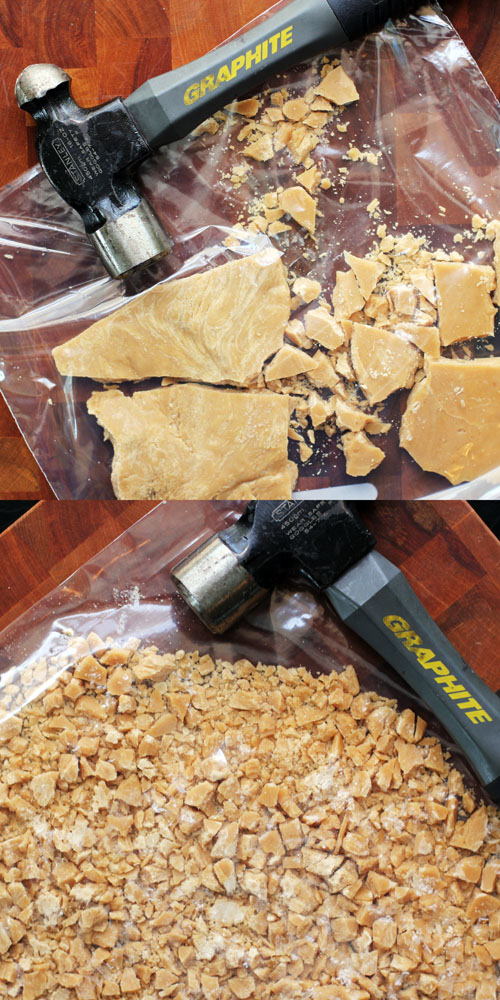 recipe for inside out homemade butterfinger bars from @janemaynard