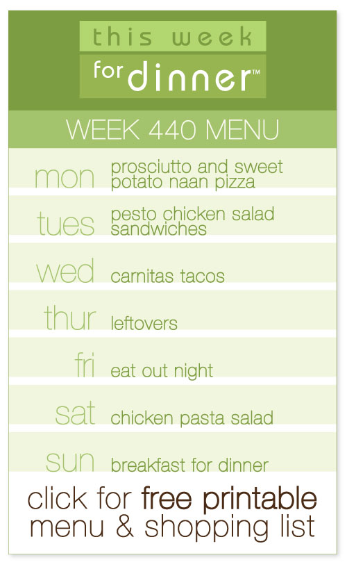 week 440 weekly menu from @janemaynard including free printable meal plan and shopping list!