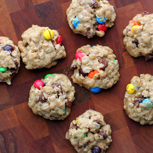 jody's perfect oatmeal cookies, chock-full of chocolate chips and M&Ms, from @janemaynard