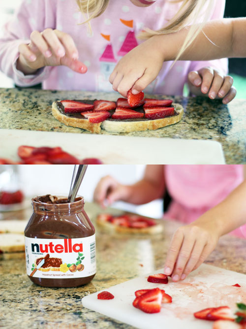 nutella & strawberry sandwiches from @janemaynard