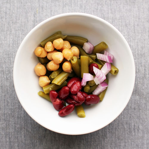 quick and easy 3-bean salad recipe for one from @janemaynard