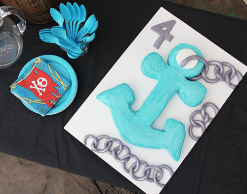 how to make a kids' birthday anchor cake by @janemaynard + recipe for vanilla cake