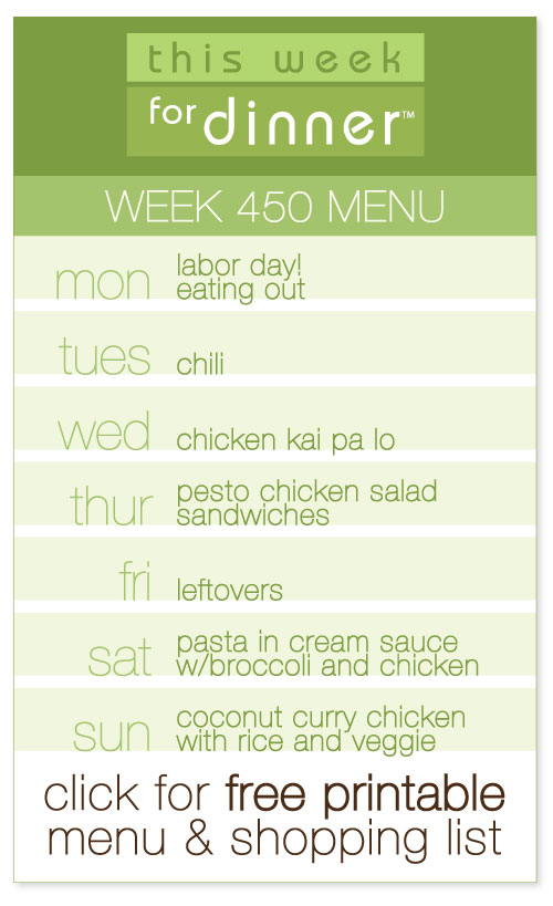 week 450 weekly menu from @janemaynard including FREE printable meal plan and shopping list!