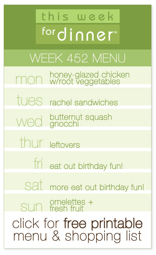 week 452 weekly menu from @janemaynard including FREE printable meal plan and shopping list!