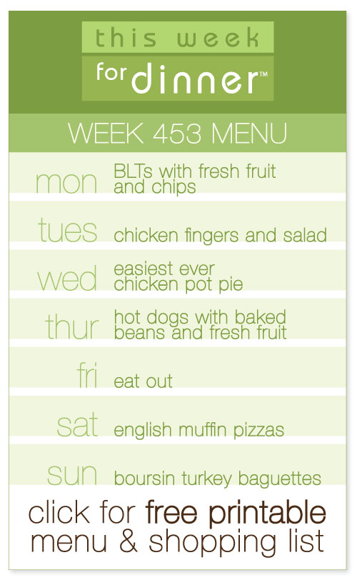 week 453 weekly menu including FREE printable meal plan and shopping list from @janemaynard