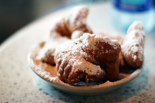 Beignets at Cafe du Monde in New Orleans by @janemaynard