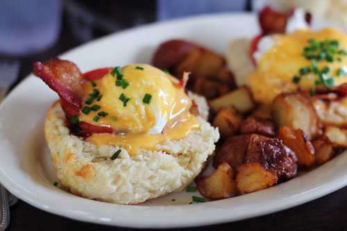 Eggs Blackstone from Ruby Slipper Cafe in New Orleans by @janemaynard