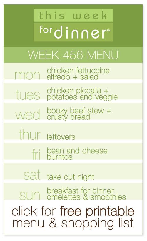 week  456 weekly menu from @janemaynard including FREE printable meal plan and shopping list!