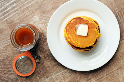 Easy, Fluffy, Delicious Pumpkin Pancakes from @janemaynard (secret ingredient: Bisquick!)