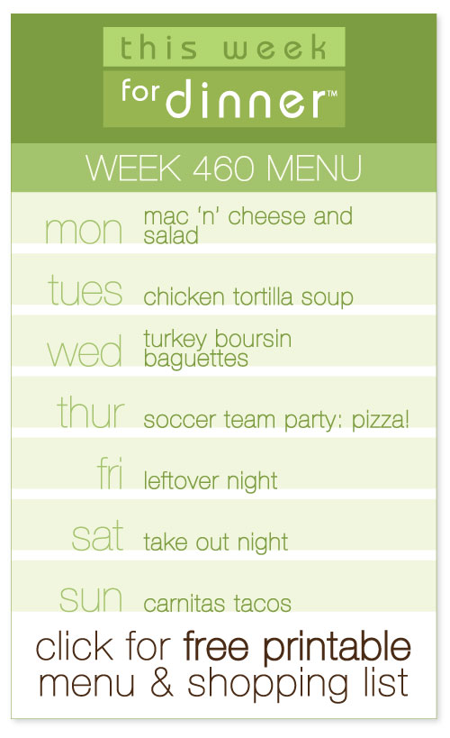 Week 460 Weekly Menu from @janemaynard including FREE printable meal plan and shopping list!