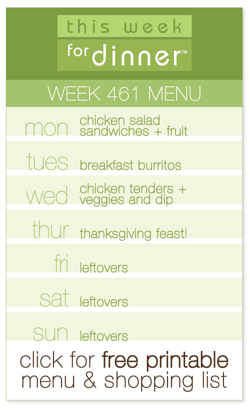 week 461 weekly menu from @janemaynard