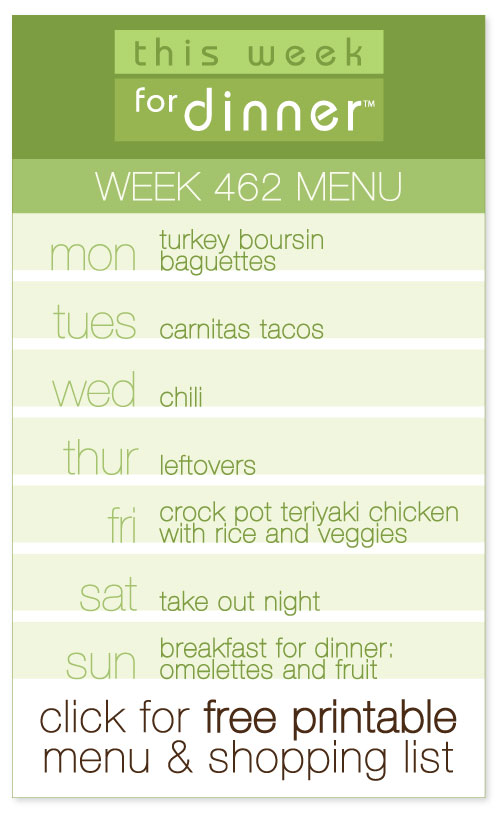 week 462 weekly menu from @janemaynard including FREE printable meal plan and shopping list!