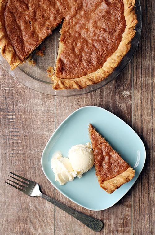 chocolate chip pie from @janemaynard