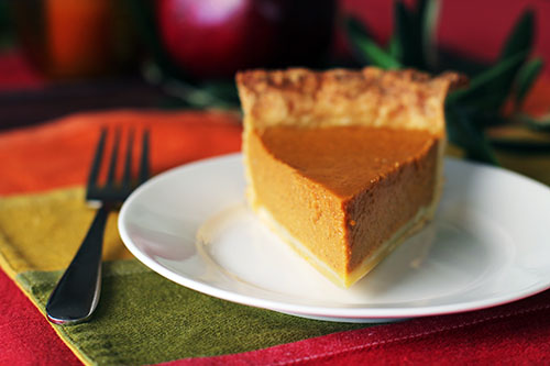 classic pumpkin pie with homemade pie crust at @janemaynard