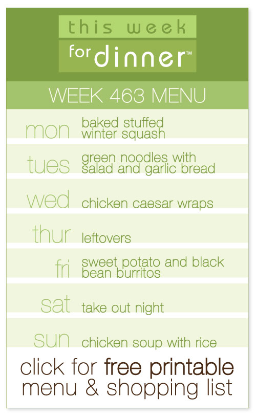 Week 463 Weekly Menu from @janemaynard including free printable meal plan and shopping list