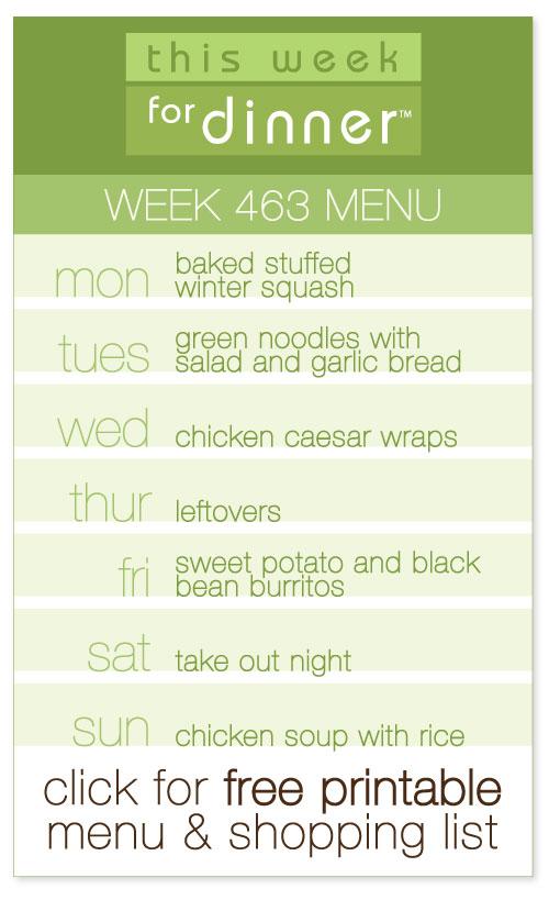 Week 463 Weekly Menu from @janemaynard including free printable meal plan and shopping list