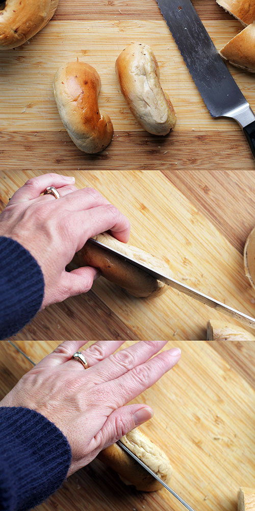 How to Slice a Bagel Without Cutting Off Your Hand