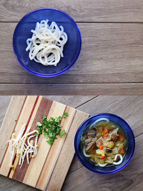 Recipe for Pork and Udon Noodle Soup from @janemaynard