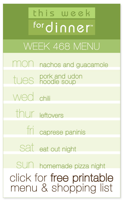 Week 468 Weekly Menu from @janemaynard including FREE printable meal plan and shopping list for the week!