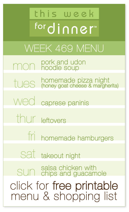 Week 469 Weekly Menu from @janemaynard including FREE printable meal plan and shopping list!