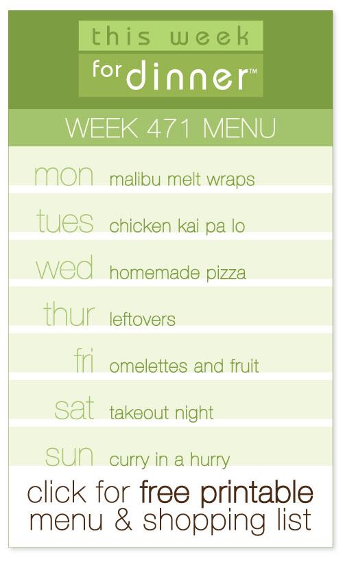 Week 471 Weekly Menu from @janemaynard including FREE printable weekly meal plan and shopping list!