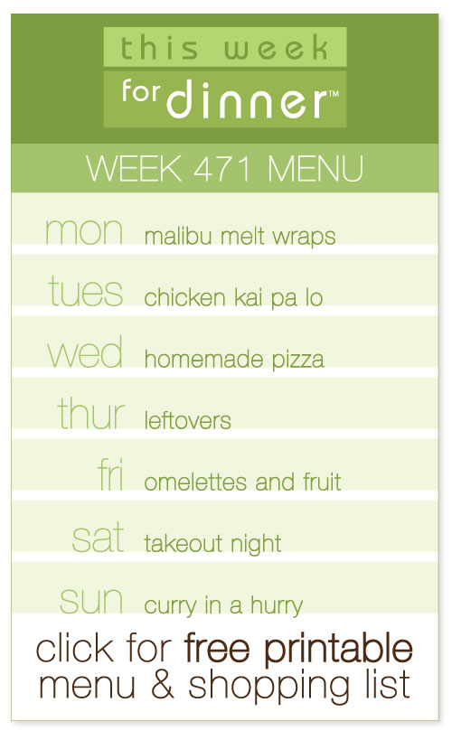 Week 471 Weekly Menu from @janemaynard including FREE printable weekly meal plan and shopping list!