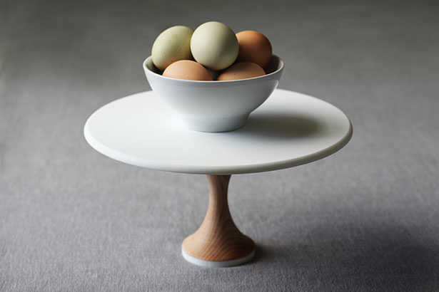 A Heirloom Hardwood Maple 10-inch Cake Stand, Thin Base | @janemaynard