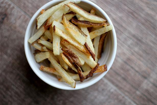 Homemade freezer french fries