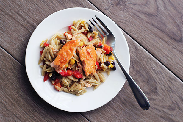 This Week for Dinner: Southwestern Salmon Orzo Salad - This Week for ...