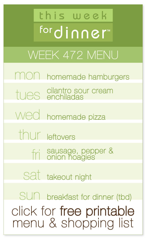 Week 472 Weekly Menu from @janemaynard including FREE printable meal plan and shopping list!