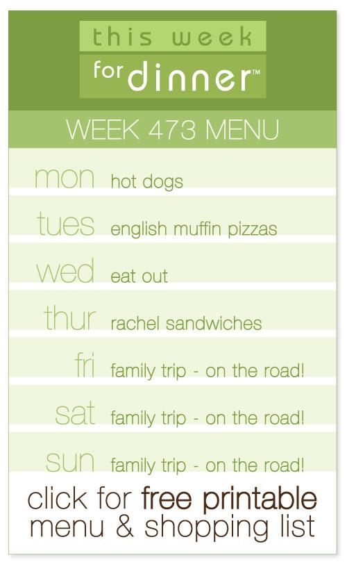 Week 473 Weekly Menu from @janemaynard