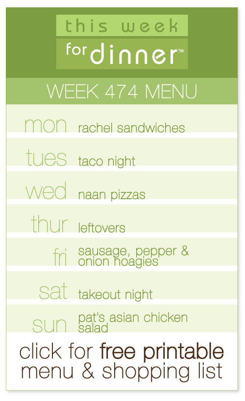 Week 474 Weekly Dinner Menu from @janemaynard including FREE printable meal plan and shopping list!