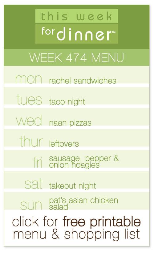 Week 474 Weekly Dinner Menu from @janemaynard including FREE printable meal plan and shopping list!