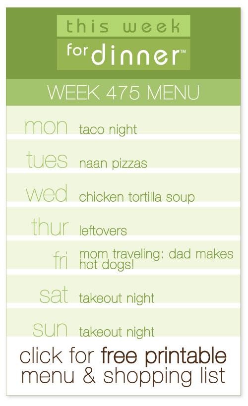 Week 475 Weekly Menu + FREE Printable weekly meal plan and shopping list from @janemaynard