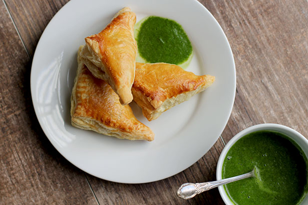 Homemade Baked Samosas using puff pastry from @janemaynard