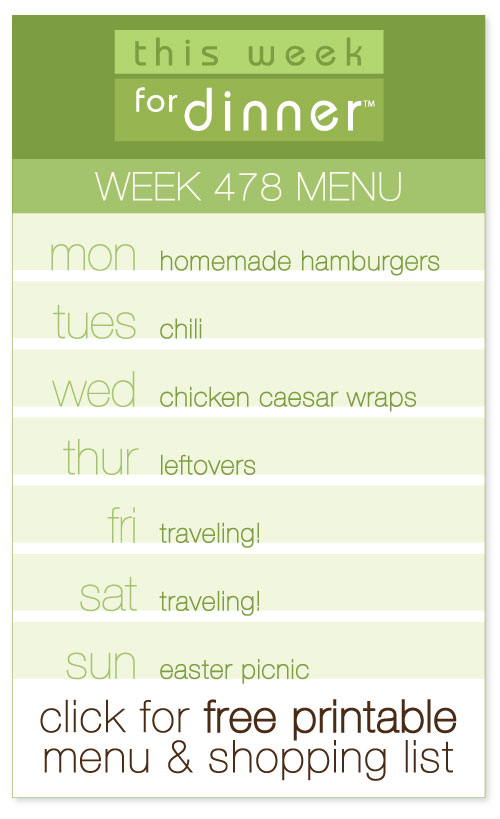 Week 478 Weekly Menu from @janemaynard with FREE printable PDF of the menu and shopping list!