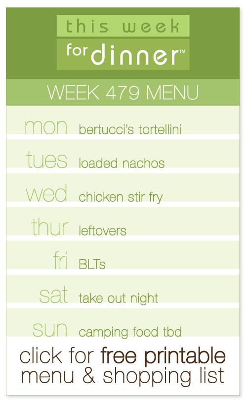 Week 479 Weekly Menu from @janemaynard including FREE printable weekly dinner plan and shopping list!