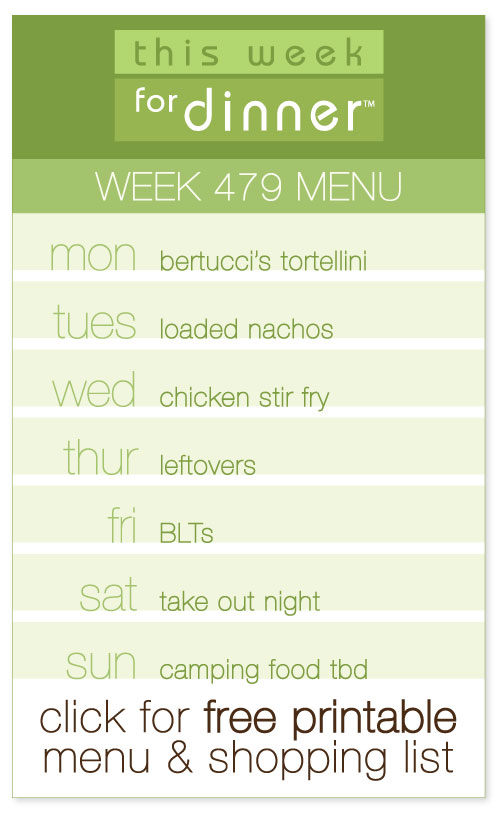 Week 479 Weekly Menu from @janemaynard including FREE printable weekly dinner plan and shopping list!