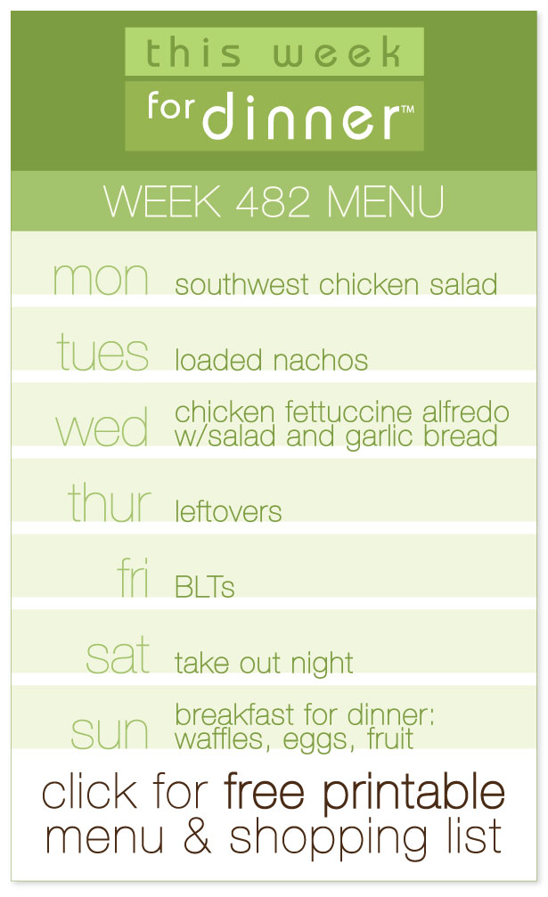Week 482 Weekly Menu from @janemaynard including free printable PDF with weekly dinner plan and shopping list!