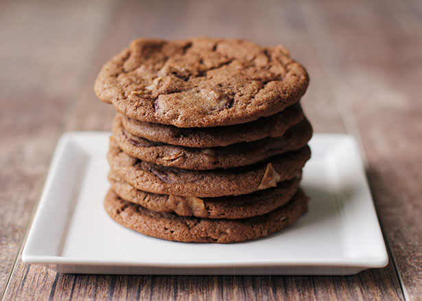 Recipe for Double Chocolate Coconut Cookies, using Fair Trade certified ingredients to support women farmers, by @janemaynard #FairHer
