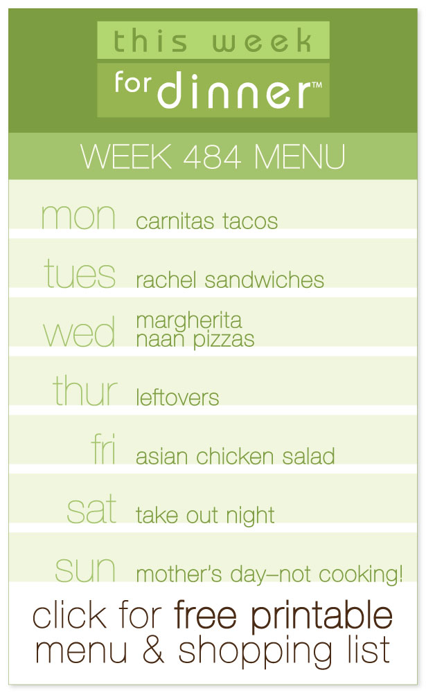 Week 484 Weekly Menu from @janemaynard including FREE printable meal plan and shopping list!