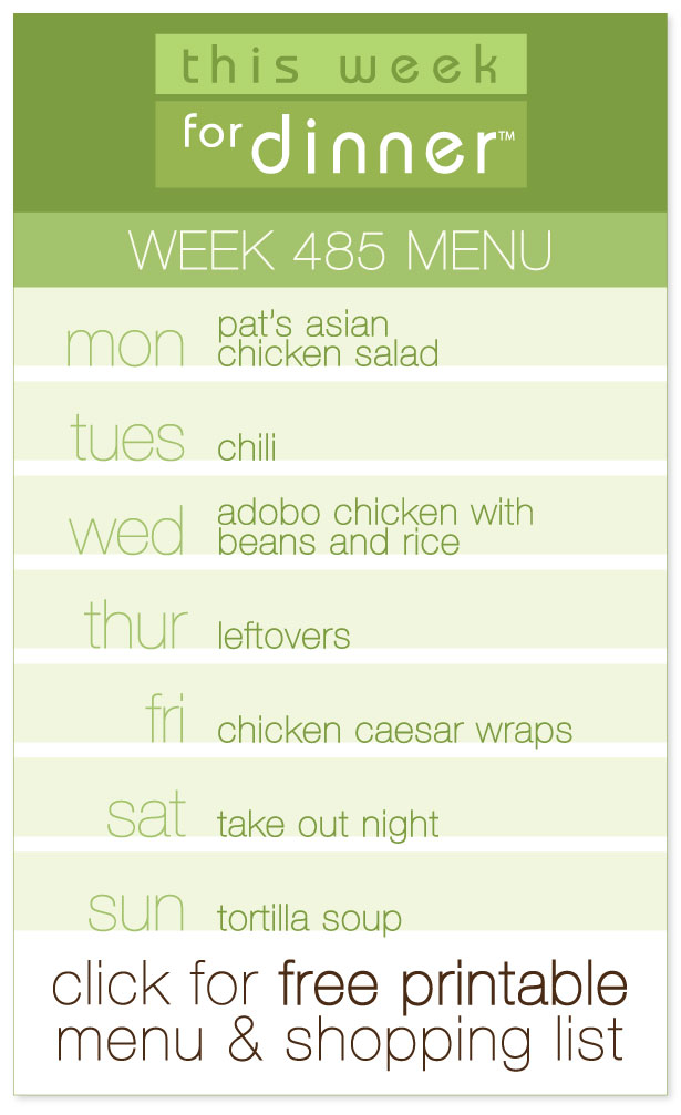 Week 485 Weekly Menu from @janemaynard including FREE printable weekly dinner meal plan and shopping list!