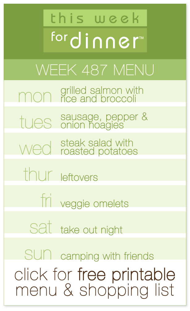 Week 487 Weekly Dinner Menu from @janemaynard including FREE printable meal plan and shopping list!