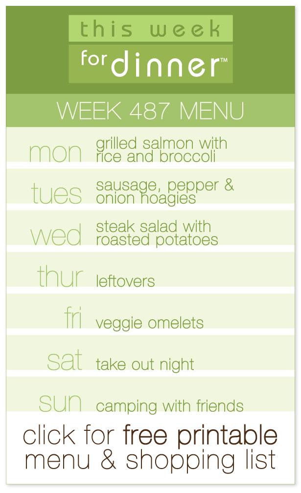 Week 487 Weekly Dinner Menu from @janemaynard including FREE printable meal plan and shopping list!