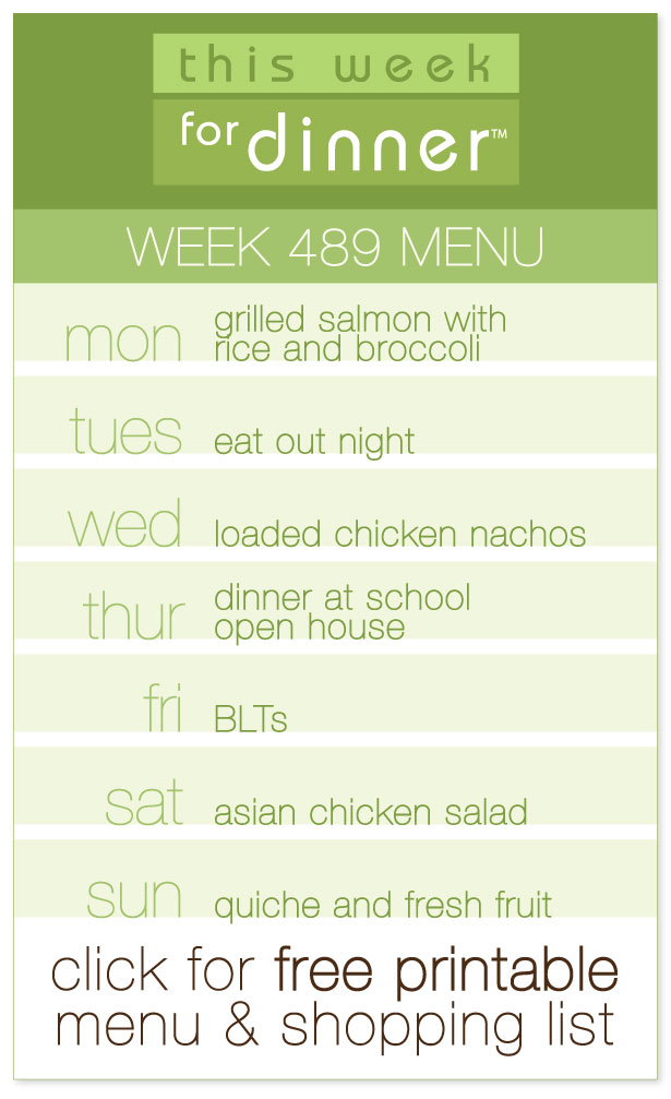 Week 489 Weekly Menu from @janemaynard including FREE printable weekly dinner plan and shopping list!