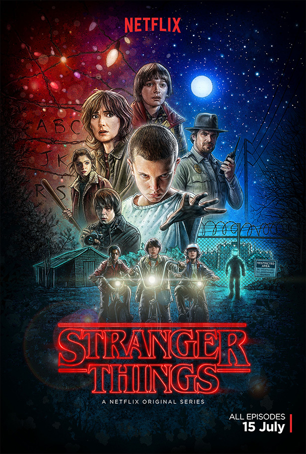 Stranger Things on Netflix is my new favorite. From @janemaynard (poster courtesy Netflix)