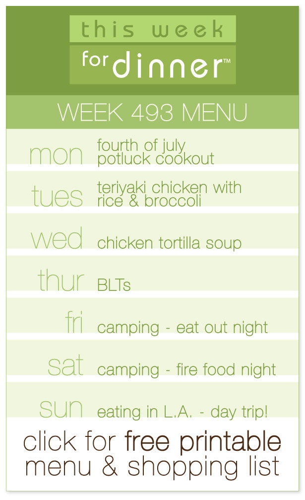 Week 493 Weekly Dinner Menu from @janemaynard including FREE printable meal plan and shopping list